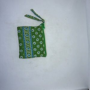 Vera Bradley Green Apple Cosmetics Bag